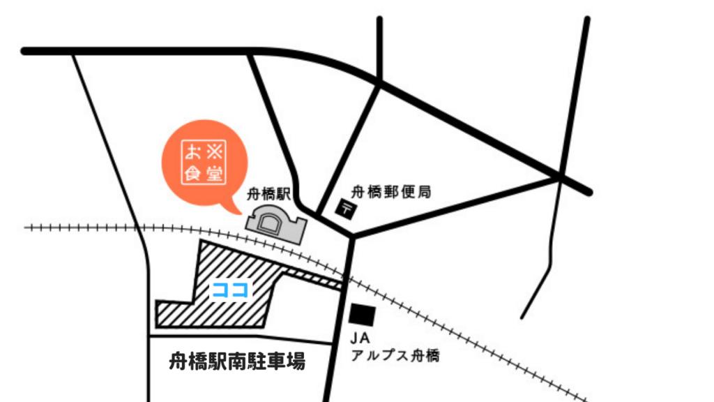 お米食堂の駐車場の場所