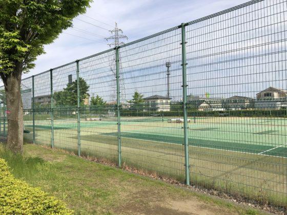 城東ふれあい公園のテニスコート