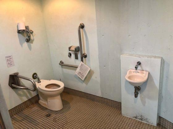 見晴らし台のトイレ(車椅子用)