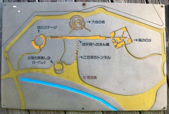 わんぱく広場の遊具の見取り図
