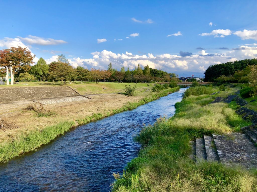 稲荷公園内の赤江川
