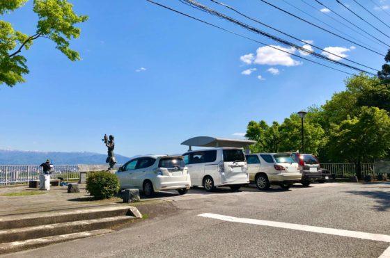 呉羽山公園展望台すぐ前の駐車場