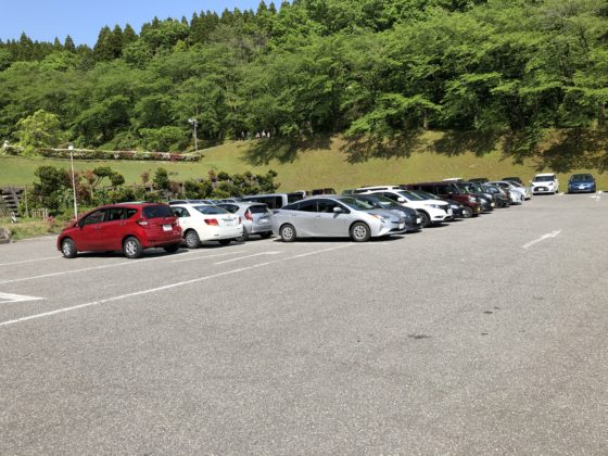 水道つつじ公園の駐車場