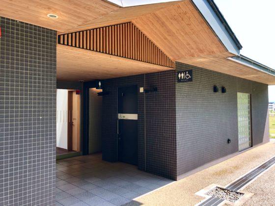 呉羽丘陵多目的広場ビジターセンターのトイレ