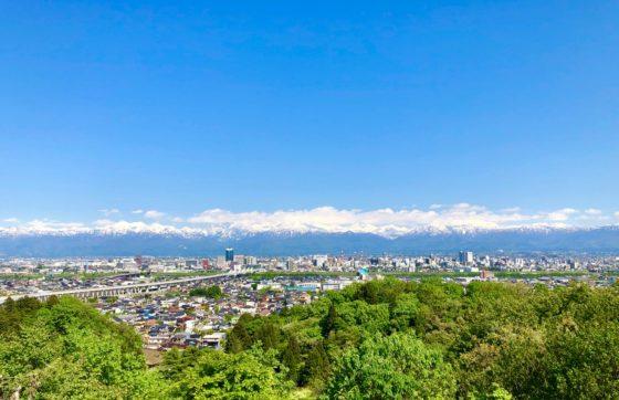 呉羽山展望台が見える絶景