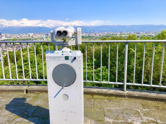 呉羽山公園展望台の無料双眼鏡