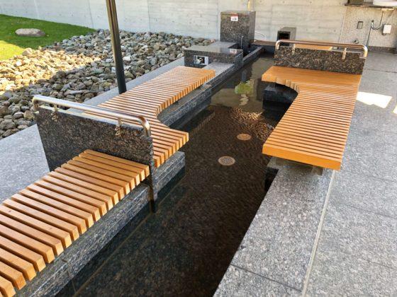 ピエ・パルクの足湯の浴槽