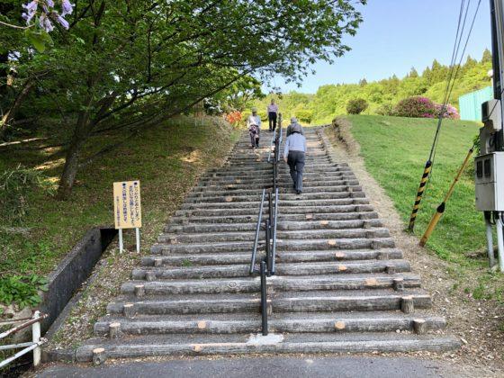 水道つつじ公園入口の階段