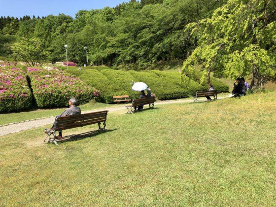 水道つつじ公園内の広場