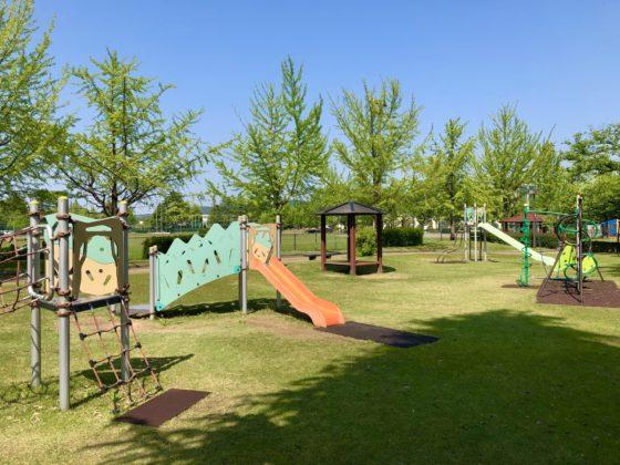 五福公園の遊具の全体図