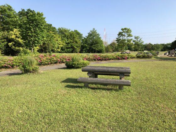 園内のベンチ