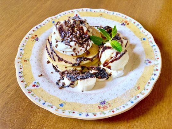 チョコバナナのパンケーキ