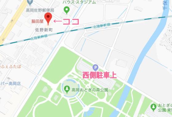 脇田屋の地図